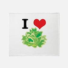 I Heart (Love) Lettuce Throw Blanket
