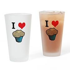 I Heart (Love) Muffins Pint Glass