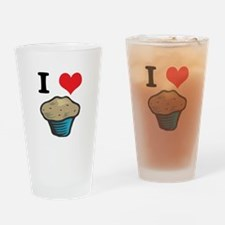 I Heart (Love) Muffins Pint Glass