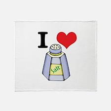 I Heart (Love) Salt Throw Blanket