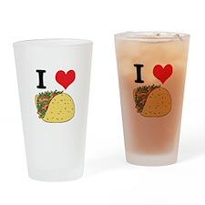I Heart (Love) Tacos Pint Glass