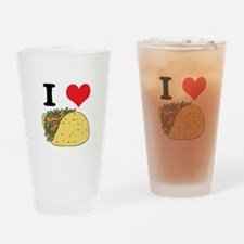 I Heart (Love) Tacos Pint Glass