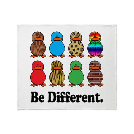 Be Different Ducks Throw Blanket