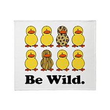 Be Wild Ducks Throw Blanket