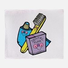 Cute Toothbrush, Toothpaste a Throw Blanket