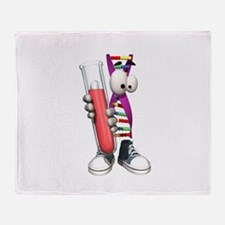 Funny DNA Testing Throw Blanket