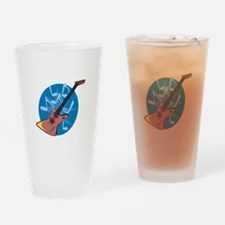 Funky Electric Guitar Pint Glass