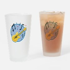 Guitar and Music Notes Design Pint Glass