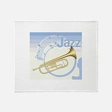Jazz Trumpet Design Throw Blanket