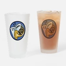 Tuba and Sheet Music Circle D Pint Glass