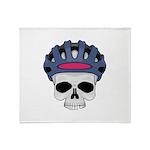 Cycling Skull Head Throw Blanket