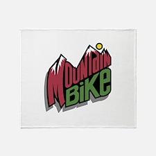 Mountain Bike Graphic Throw Blanket