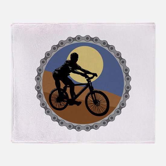 Mountain Bike Chain Design Throw Blanket
