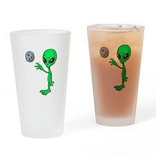 Bowling Alien Pint Glass