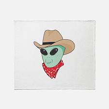 Cowboy Alien Throw Blanket