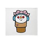 Cute Little Girl Snow Cone Throw Blanket