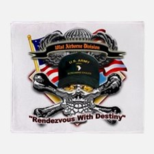US Army 101st Airborne Divisi Throw Blanket