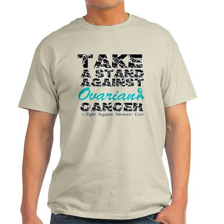 Take a Stand Ovarian Cancer Light T-Shirt