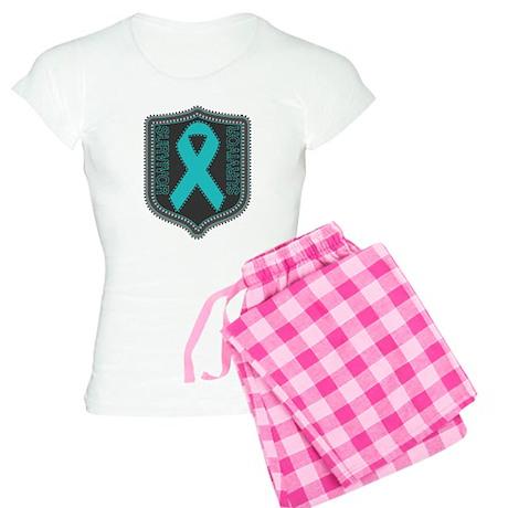 Ovarian Cancer Survivor Women's Light Pajamas