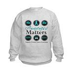 Awareness Ovarian Cancer Kids Sweatshirt