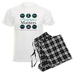 Awareness Ovarian Cancer Men's Light Pajamas