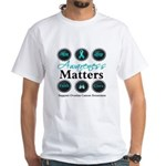 Awareness Ovarian Cancer White T-Shirt