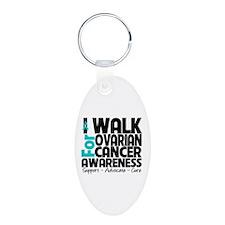 Walk Ovarian Cancer Keychains