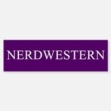 Nerdwestern University Bumper Bumper Sticker