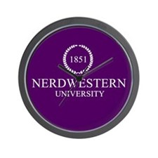 Nerdwestern University Wall Clock