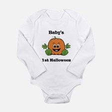 [NAME]'s 1st Halloween Pumpkin Long Sleeve Infant