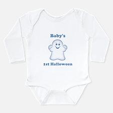 [NAME]'s 1st Halloween Ghost Long Sleeve Infant Bo