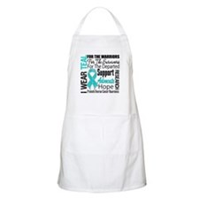 Teal Collage Ovarian Cancer Apron
