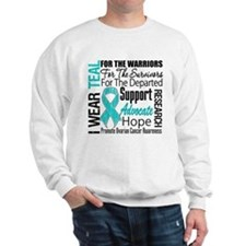 Teal Collage Ovarian Cancer Sweatshirt