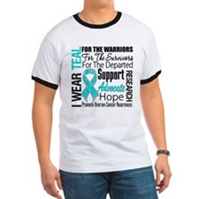Teal Collage Ovarian Cancer T