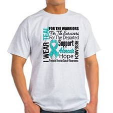 Teal Collage Ovarian Cancer T-Shirt