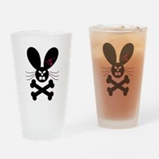 Evil Emo Bunny Crossbones Des Pint Glass