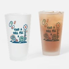 Chill Pill Retro Collage Desi Pint Glass