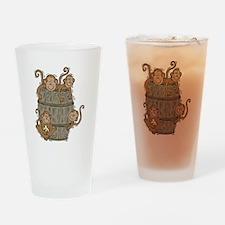 Cute Barrel of Monkeys Pint Glass