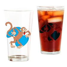 Goofy Teasing Monkey Pint Glass