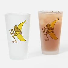 Silly Monkey Hugging Banana Pint Glass