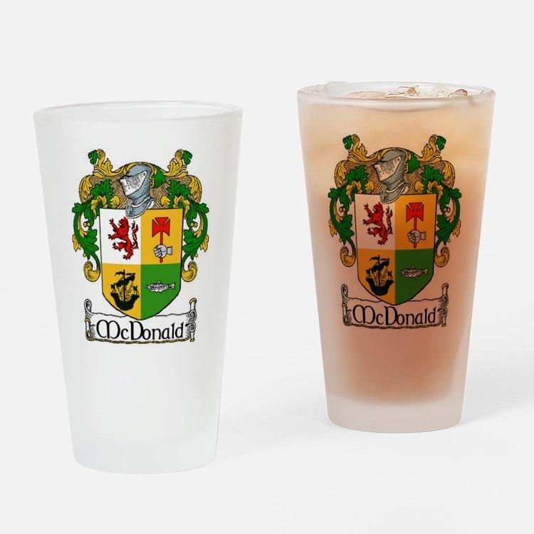McDonald Coat of Arms Pint Glass
