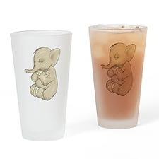Sad Praying Elephant Pint Glass