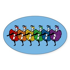 Rainbow CanCan Dancers Decal