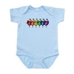 Rainbow CanCan Dancers Infant Bodysuit