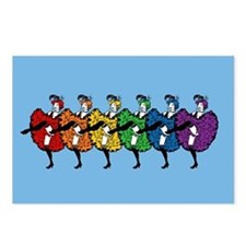 Rainbow CanCan Dancers Postcards (Package of 8)