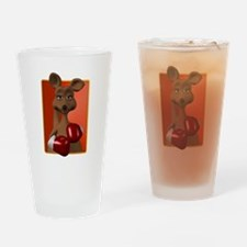 Kangaroo With Boxing Gloves Pint Glass