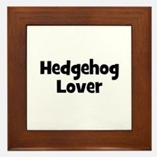 Hedgehog Lover Framed Tile