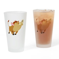 Funny Stubborn Wild Boar Pint Glass