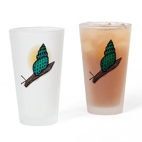 Pretty Turquoise Snail Pint Glass