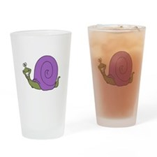 Happy Goofy Snail Pint Glass